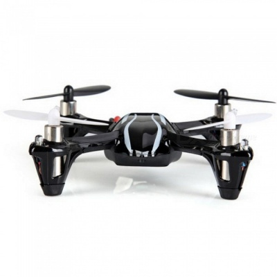 Hubsan X4 H107L Mini 2.4G 4CH 6-Axis Gyro RC Quadcopter Helicopter RTF with LED Light, Remote Control Quadcopter Toy Black