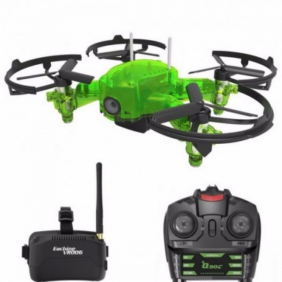 Eachine Q90C Flyingfrog FPV Racer Quacopter 1000TVL Camera VR006 Goggles Switch Freq Transimitter VS Eachine E013 Flyingfrog Q90 With Goggles