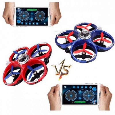 Cheerson CX-60 CX60 AIR Dominator 2.4GHz 4CH 6 Axis Gyro Mobile WIFI RC Fighting Drone Quadcopter - Red + Blue Red+Blue