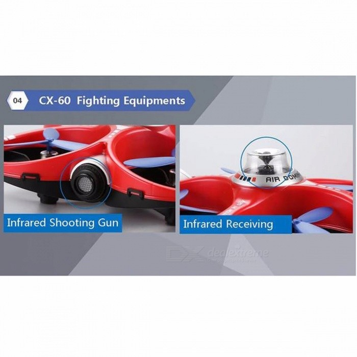 Cheerson CX-60 CX60 AIR Dominator 2.4GHz 4CH 6 Axis Gyro Mobile WIFI RC Fighting Drone Quadcopter - Red + Blue