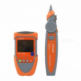 Digital 2.0 Inches CCTV Camera Tester Video Monitor Audio Testing Portable Network Cable Scan Test Wire Tracking orange