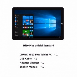 CHUWI Official 10.8 Inches Hi10 Plus Tablet PC Windows 10 Android 5.1 Dual OS Intel Atom Z8350 Quad Core 4GB RAM 64GB ROM Gray Tablet PC/Add Keyboard n Pen