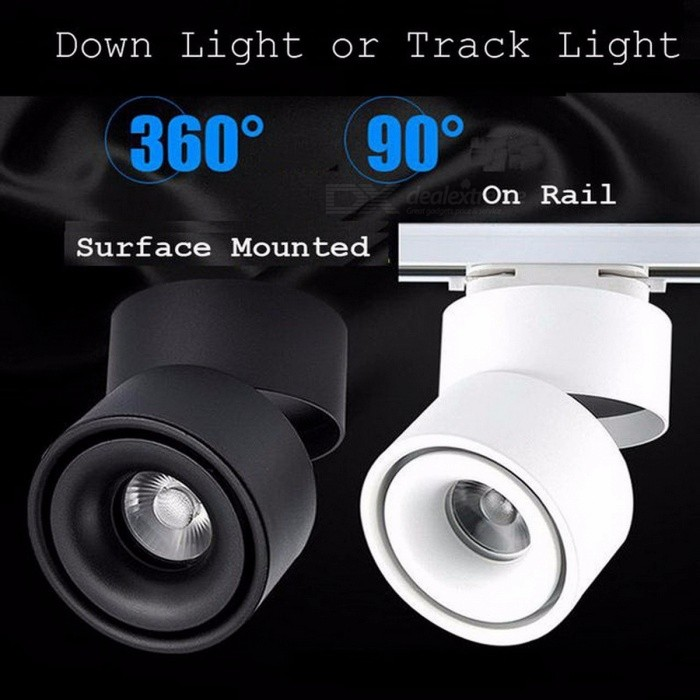 10 stks / partij grote power COB LED track verlichting dimbare rail ...