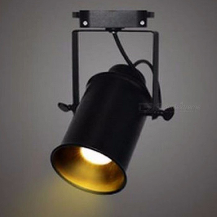 Vintage Style 5W LED Track Light, Clothing Store COB LED Spotlight, Industrial American Style Loft Rail Spot Lamp 5W pure white LEDDescription<br><br><br><br><br>Item Type: Track Lighting<br><br><br>Style: Modern<br><br><br><br><br>Finish: Iron<br><br><br>Voltage: 220V,230V,120V,110V,240V<br><br><br><br><br>Certification: CE,RoHS,CCC<br><br><br>Power Source: AC<br><br><br><br><br>Base Type: E27<br><br><br>Brand Name: cicilighting<br><br><br><br><br>Light Source: LED Bulbs<br><br><br>Is Dimmable: No<br><br><br><br><br>Is Bulbs Included: Yes<br><br><br>Switch Type: Knob switch<br><br><br><br><br><br><br><br><br><br><br><br>Condition:100% Brand New<br><br> Materials: &amp;nbsp;Metal<br><br>Power input: 100-240V AC<br><br>Bulb Type: 1pcs E27<br><br>Bulbs included or Not:&amp;nbsp;&amp;nbsp;Included &amp;nbsp;5W cob LED bulb<br><br>Power Consumption: Max40W/bulb<br><br> Body color: Black&amp;nbsp; <br><br><br>&amp;nbsp;<br><br>Please noted this light just for 1 phase -- 2 wires track as in follow picture. &amp;nbsp;And track&amp;nbsp;is not included.<br>
