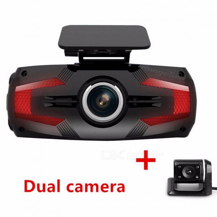 Range Tour Full HD 1080P 2.7 LCD 170 Degree Video Recorder Dash Cam, Car DVR Dashboard Camera with Dual Camera ADD 16GB/dual cameraCar DVRs<br>Description<br><br><br><br><br>Item Type: Car DVR<br><br><br>Touch Screen: No<br><br><br><br><br>Pixels: 500Mega<br><br><br>Assembly Mode: Portable Recorder<br><br><br><br><br>OSD Language: Chinese (Traditional),Russian,Russia,Korean,Japanese,English,Italian,Portuguese,Chinese (Simplified),German,Spanish,French<br><br><br>Interface: USB2.0,AV-Out,Micro SD/TF<br><br><br><br><br>Special Features: Microphone,Time&amp;amp;Date Display,Night Vision,Wide Dynamic Range,Cyclic Recording,Led Display,SD/MMC Card,Real Time Surveillance,Dual Lens,G-sensor,Digital Zoom,Motion Detection,Automatic White Balance,Cycle Recording<br><br><br>Brand Name: Range Tour<br><br><br><br><br>Memory Card Required Reding Speed: Class 10<br><br><br>Screen Ratio: 16:9<br><br><br><br><br>Battery: Built-in<br><br><br>View angle: 170°<br><br><br><br><br>Video Code: H.264<br><br><br>Number Of Lenses: 2<br><br><br><br><br>Original Package: Yes<br><br><br>Max External Memory: 32G<br><br><br><br><br>Display Size: 2.7<br><br><br>Camera Resolution: 1920x1080<br><br><br><br><br>GPS logger: None<br><br><br>Video Format: MOV<br><br><br><br><br>Imaging Sensor: 1/3 Color Cmos<br><br><br>Frames Per Second: 30<br><br><br><br><br>Chipset Manufacturer: Other<br><br><br><br><br><br><br><br><br><br><br><br><br><br><br><br><br>1.<br> -LOOP RECORDING: With loop recording enabled, users will have the <br>option to record videos in loops of 1 / 3 / 5 minute video files, and <br>record it on the TF card to capacity, automatically overwriting the <br>oldest files first without erasing parking or emergency files thanks to <br>gravity sensing technology.<br><br> 2.-DUAL CHANNEL, <br>WEATHERPROOF REAR CAMERA: 2.7 FULL HD 1080P 170 degree front camera + VGA<br> 120 degree rear camera, obtain full lane coverage, able to switch <br>between front and rear lens display. Automatically shows camera when car<br> is in reverse. Open HDR gives pristine quality while reflecting the <br>real environment of the visual effect.<br><br> 3.-PARKING AND <br>COLLISION MONITORING: Camera powers off with the engine and in parking <br>mode able to self start in detection of collision or crash, normally <br>recording 30 seconds then powering off. Recorded videos save and lock, <br>immune from overwrite for accident evidence.<br><br><br> 5.-SECURE MOUNT: Compact and light the camera system is secure and easy to set suction-free and built in battery.<br><br><br><br><br><br><br><br><br><br><br>ATTENTION:<br><br> 1. Do not charge while starting vehicle as the instant jolt can damage the DVR<br><br> 2. Be sure to format new SD cards in DVR MENU settings NOT on a computer<br><br> 3. Be sure to use high speed Class 10 memory card, as other will indicate a full status if incompatible.<br>