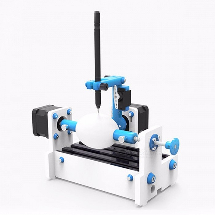 GKTOOLS GK Egg Draw 3, Egg Drawing Robot CNC Drawing Machine, Egg Writing Robot DIY Education Tool, EleksMaker AXIDRAW Eggbot3D Printers, 3D Printer Kits<br>Description<br><br><br><br><br>Condition: New<br><br><br>Brand Name: GKTOOLS<br><br><br><br><br><br><br><br><br><br><br><br>Instruction:<br>1. An GK Egg Draw 3 is a compact, easy to use art robot that can draw on small spherical and egg-shaped objects.<br><br><br><br>2. GK Egg Draw 3 have been used as educational and artistic pieces in museums and workshops.<br><br><br><br>3.<br> An GK Egg Draw 3 is a highly adjustable machine, designed to draw on <br>all kinds of things that are normally impossible to print on.<br><br><br><br>4.<br> Not just eggs but Ping pong balls, golf balls, lacrosse balls, large <br>marbles, stone balls, ball bearings, mini pumpkins, light bulbs,holiday ornaments and wine glasses are just some of the other items that have been drawn on. You can print on almost anythingthat's sturdy, spherical or ellipsoidal, will fit in the robot, and has a fairly smooth surface.<br><br><br>&amp;nbsp;<br><br><br><br>Specifications:<br><br><br>&amp;nbsp;<br><br><br>&amp;nbsp;<br><br><br><br><br><br><br>Brand <br><br><br><br><br>GKTOOLS <br><br><br><br><br><br><br>Model <br><br><br><br><br>GK Egg Draw 3 <br><br><br><br><br><br><br>Control Board <br><br><br><br><br>EleksMana SE <br><br><br><br><br><br><br>Main Material <br><br><br><br><br>Aluminium Alloy <br><br><br><br><br><br><br>Machine Size <br><br><br><br><br>210mm*150mm*100mm <br><br><br><br><br><br><br>Package Size <br><br><br><br><br>265mm*230mm*150mm <br><br><br><br><br><br><br>Weights <br><br><br><br><br>1kg <br><br><br><br><br><br><br>Package Weights <br><br><br><br><br>2kg <br><br><br><br><br><br><br>Drive Motor <br><br><br><br><br>42H34S-1304A <br><br><br><br><br><br><br>Continuous Work Time <br><br><br><br><br>?10hour <br><br><br><br><br><br><br>Control Software <br><br><br><br><br>EleksCAM,InkSpace <br><br><br><br><br><br><br>Color <br><br><br><br><br>Contrasted Copper <br><br><br><br><br><br><br>Matched Blue Tooth <br><br><br><br><br>Blue Tooth 4.0 10m <br><br><br><br><br><br><br>Power <br><br><br><br><br>AC110-220V,OUTPUT:12V,5A <br><br><br><br><br><br><br>Communication Port <br><br><br><br><br>Micro-USB <br><br><br><br><br><br><br>Supported Systems <br><br><br><br><br>Windows XP,Windows 7,Windows 10 <br><br><br><br><br><br><br><br>Features:<br><br><br><br>- The GK Egg Draw 3 &amp;nbsp;is designed for rigidity, ease of use, and faster setup.<br><br><br><br>- Adopt an appropriate industrial design based on offering eggs structures and high speed engraving in different situation.<br><br><br><br>- Use Alumium Alloy and PMMA to make GK Egg Draw 3 &amp;nbsp;machine become faster and precisely.<br><br><br><br>-<br> Mana SE Controller have new eletronic component arrangement, high speed<br> micro USB connecter, PWM laser connecter, CNC metal Switch.<br><br><br><br>-<br> The GK Egg Draw 3 &amp;nbsp;fits spherical and egg-shaped objects from roughly <br>the size of a gum ball to that of a light bulb - about 1 to 3.5 inches <br>in diameter (2.5 - 9 cm).<br><br><br>-<br> Perfect for ping pong balls, golf balls, chicken eggs, and similarly <br>sized objects. Or as the Education Toy in museums and workshops.<br>