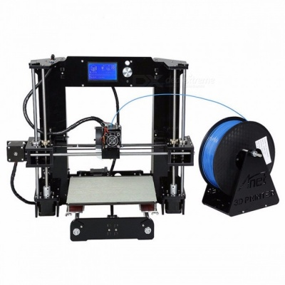 Easy Assembled Anet Impresora 3D Printer Kit, Auto Leveling Big Size Reprap i3 DIY Printer Set with Hotbed Filament SD Card A6 10M