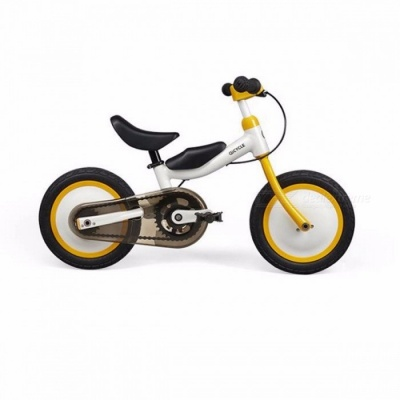 Xiaomi MiJia Portable 12 Inches QiCycle Bike Tricycle Scooter with Slide and Bicycle Dual Use for Children  Yellow