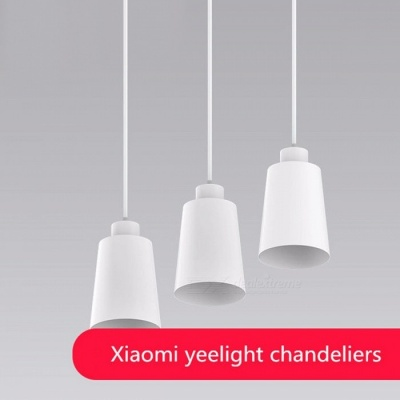 Original Xiaomi Mijia Yeelight Chandelier Ceiling Light w/ E27 Screw Mouth, Works with Yeelight Blub for Xiaomi Smart Home Kit White