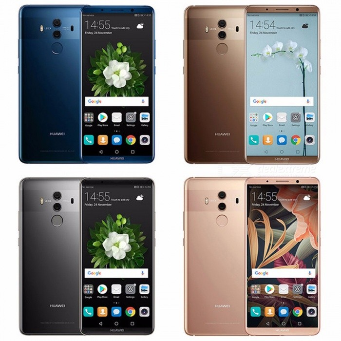 Huawei Mate 10 Pro Global Firmware Smartphone Android 8 0 Dual Rear 20MP  +12MP 4000mAh 6 0 inch Full Display 6G 64G Blue/Official n Film Gift