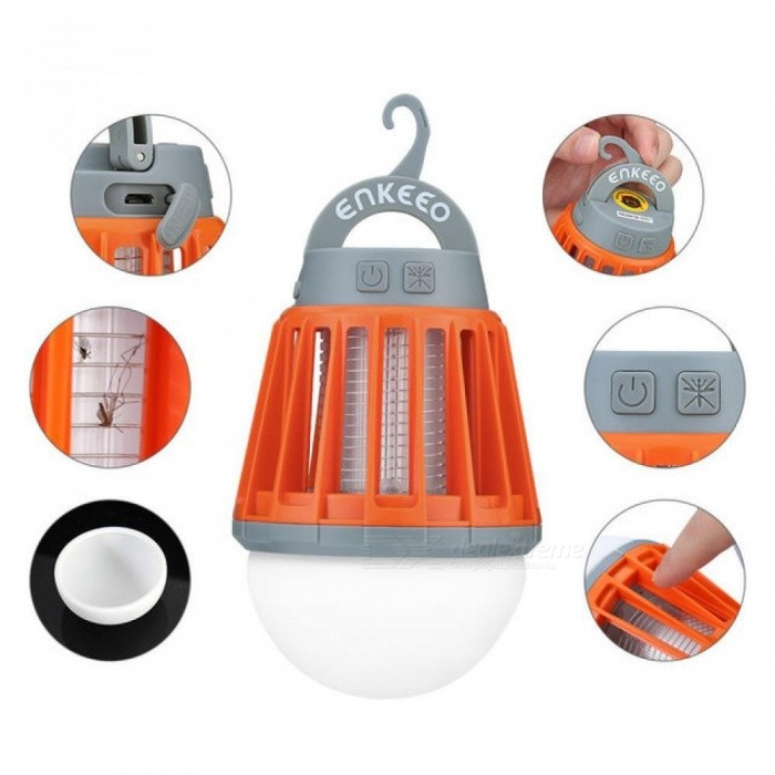 ... Portable Camping Light Bulb USB Charging LED Mosquito Killer Lamp Waterproof Repellant Pest Insect Mosquito Killer ...