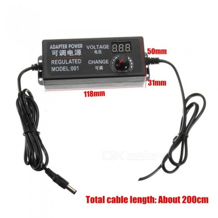 Excellway 9-24V 3A 72W AC/DC Adapter Switching Power Supply Regulated Power Adapter Display EU High Quality