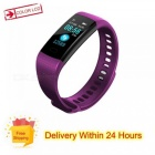 Y5 Color Screen Wristband Watch Smart Electronics Bracelet Waterproof Heart Rate Activity Fitness VS for Xiaomi Miband 2 Purple with strap