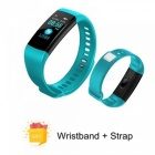 Y5 Color Screen Wristband Watch Smart Electronics Bracelet Waterproof Heart Rate Activity Fitness VS for Xiaomi Miband 2 Green with strap