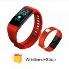 Y5 Color Screen Wristband Watch Smart Electronics Bracelet Waterproof Heart Rate Activity Fitness VS for Xiaomi Miband 2 Red with Strap