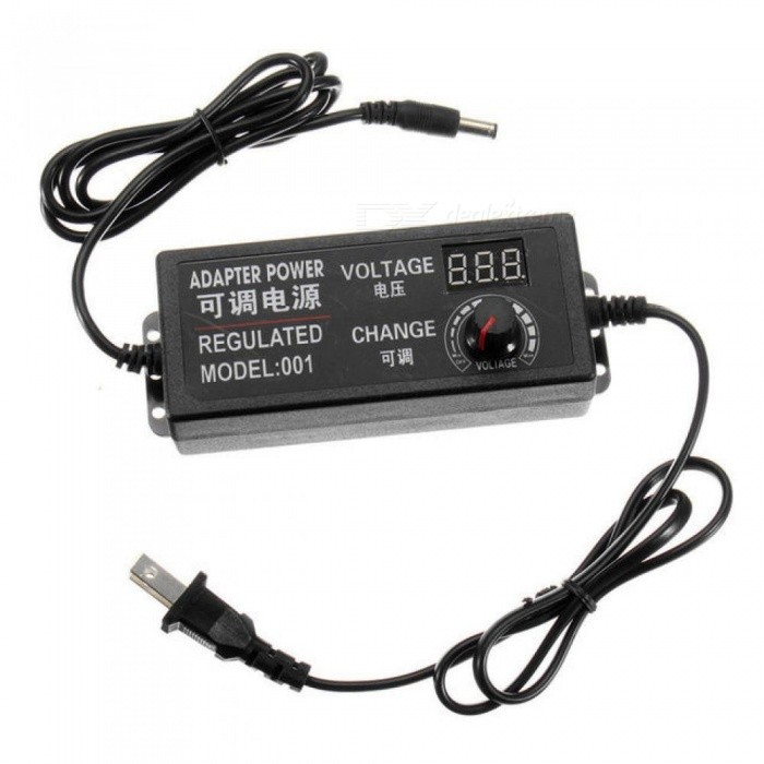 AC/DC Supply  9-24V 3A 72W Adjustable Power Adapter Speed Control Volt Display ALI88 for DC Motor Speed Control, Light Dim