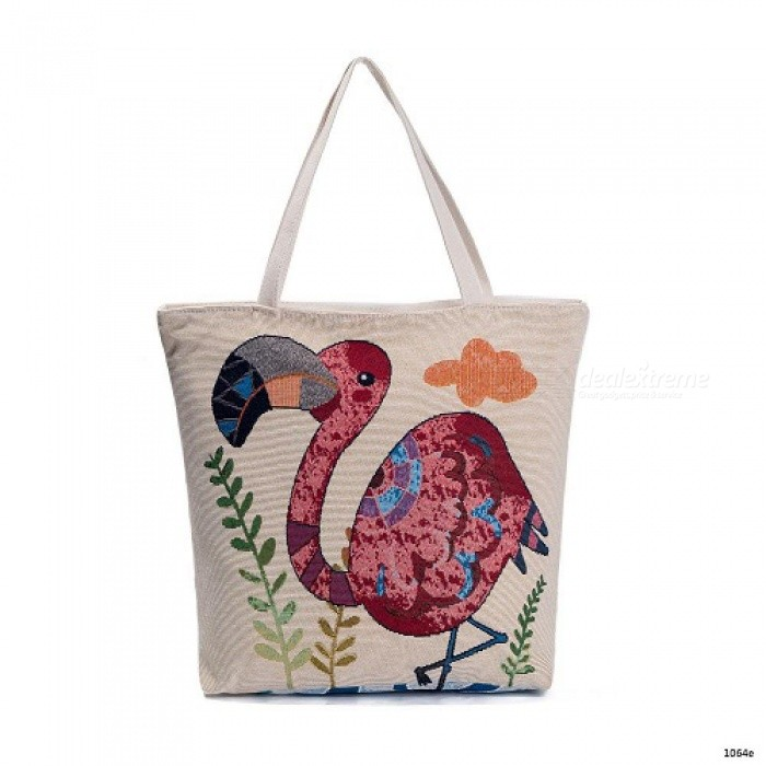 Embroidery Design Floral And Flamingo Print Casual Tote Bag Women Large  Capacity Shoulder Bag Female Summer Beach Bag 1064e - Worldwide Free  Shipping - DX 8a0ee928a83fd