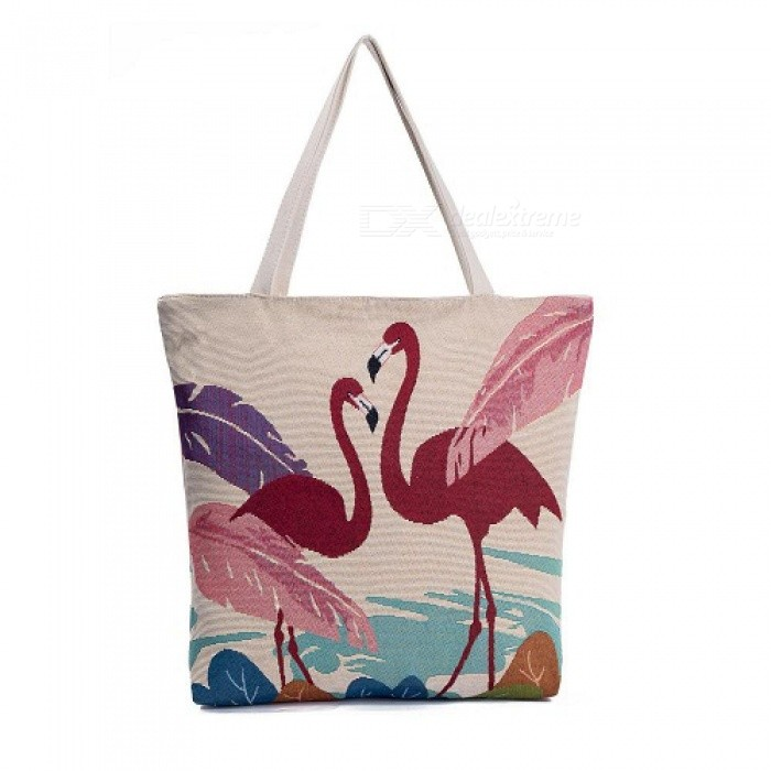 Embroidery Design Floral And Flamingo Print Casual Tote Bag Women Large  Capacity Shoulder Bag Female Summer Beach Bag 1064a - Worldwide Free  Shipping - DX dc72fe01e754b