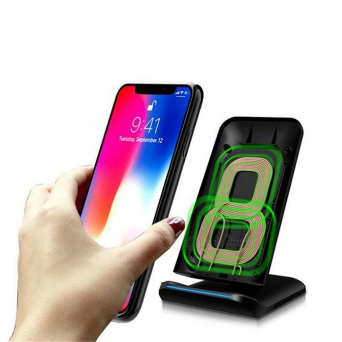 Qi Wireless LED Light Fast Charger Desktop Holder For iPhone X 8 8Plus For Samsung S8 S7 Edge S6 High Quality Universal/White - Worldwide Free Shipping - DX