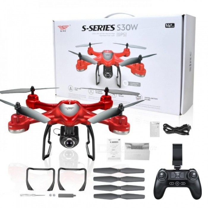 S30W Double GPS Dynamic Follow WIFI FPV With 720P Wide Angle Camera RC Drone Quadcopter Racing VS MJX Bugs6