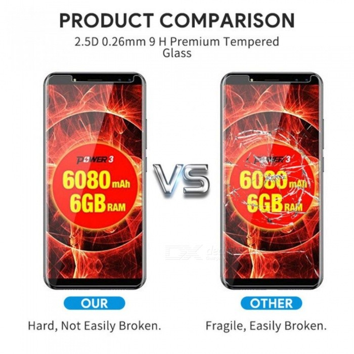 Ulefone Power 3/3s S8/S8 Pro Tempered Glass Screen Protector 9H Explosion Proof Clear Film Guard Not Full Cover