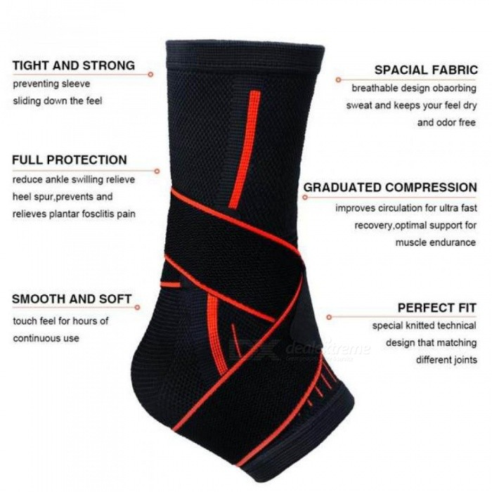 Sports Ankle Protective Sleeve Brace Compression Support Sleeves Plantar Fasciitis Foot Socks Ankle Supports