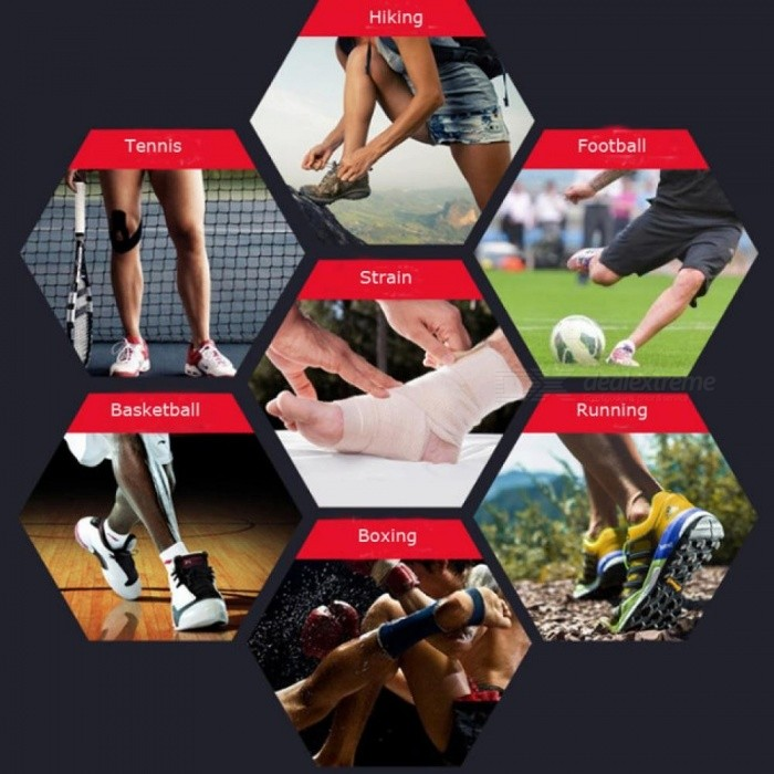 Sports Ankle Support Ankle Pads Elastic Brace Guard Foot Ankles Protector Wrap Football Basketball Running Guard Foot Bandage