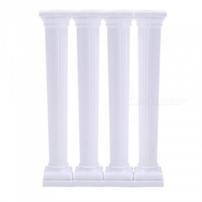 4Pcs/Set White Grecian Pillars Valentine's Day Cake Tier Separator Support Stand Decor Wedding Cake Stands Fondant Support Mold style3