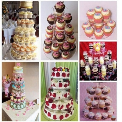 Cake Stand Round Cup Cupcake Holder Wedding Birthday Party Decorations Events Dessert Sugarcrafts Display Stands 5 tiers
