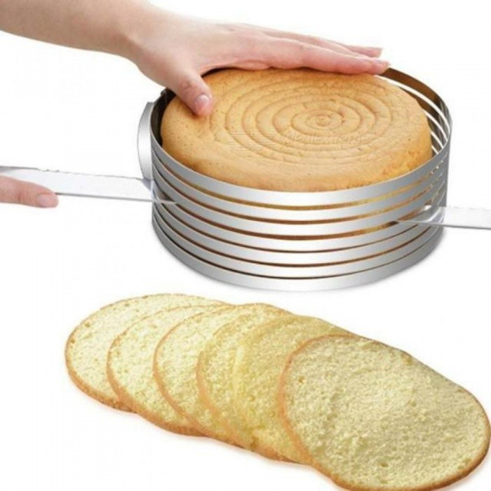 Layered Cake Slicer Cutter 15-20cm Adjustable Retractable Circular Ring Cake Mould Stainless Steel Cake Tool Baking Tool