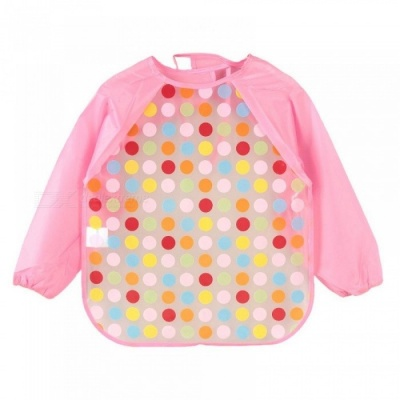 Cartoon Baby Bibs Colorful Long Sleeve Apron Waterproof Toddler Feeding Bibs Burp Cloths Children Painting Clothes One size/O