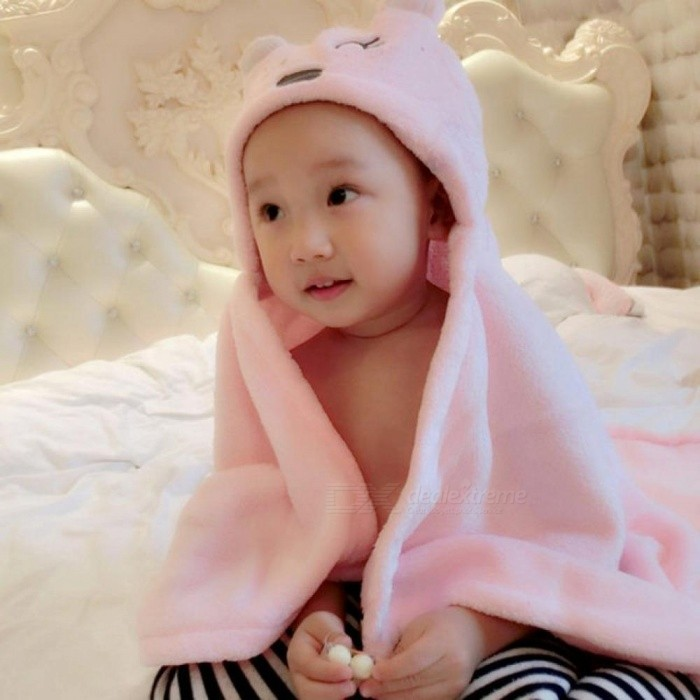 Soft Baby Blankets Baby Kids Bathing Towels Animal Shape Hooded ...