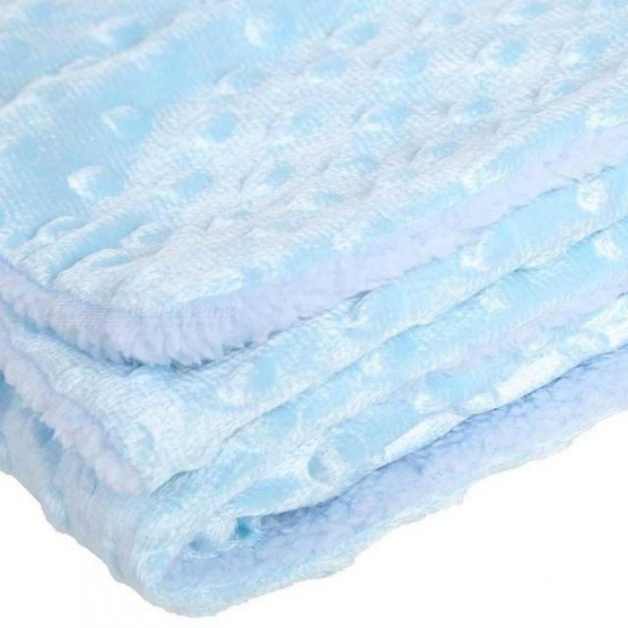 Soft Baby Blankets Warm Fleece Newborn Stroller Sleep Cover Cartoon Beanie Infant Bedding Quilt Swaddling Wrap Kids Bath Towel