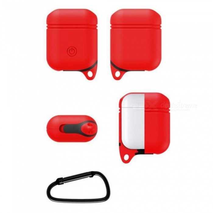 ... Soft Silicone Cover for Apple Airpods Waterproof Shockproof Protector Case Sleeve Pouch for Air Pods Earphone ...