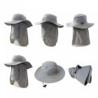 Outdoor Bucket Hat Large Round Brim Sun Block Quick Drying Fishing Hats Summer Sun Cap for Travel Mountain Climbing Bucket Hat light gray