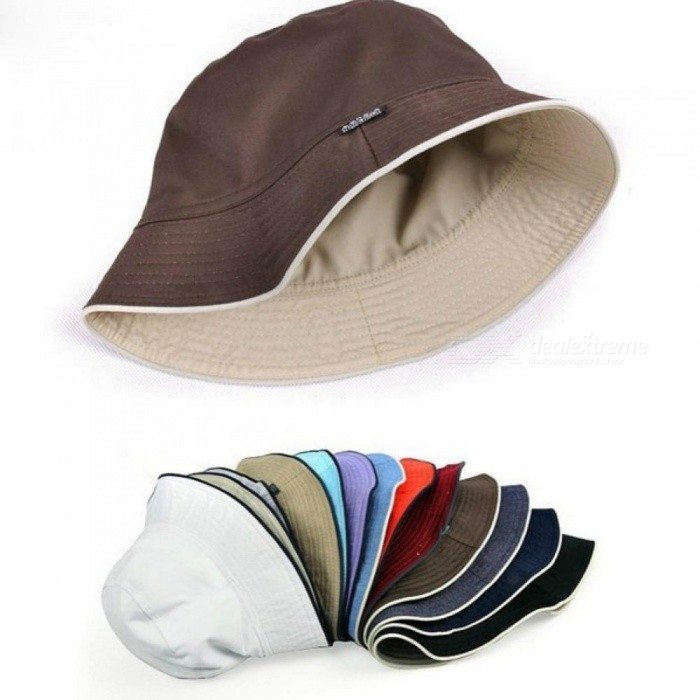 Plain Solid Bucket Hats Men Reversible Two Sides 100% Cotton Sun Bob Cap  Comfortable Fisherman Hat Fashion Hats Armygreen - Worldwide Free Shipping  - DX 98e2f12915d8