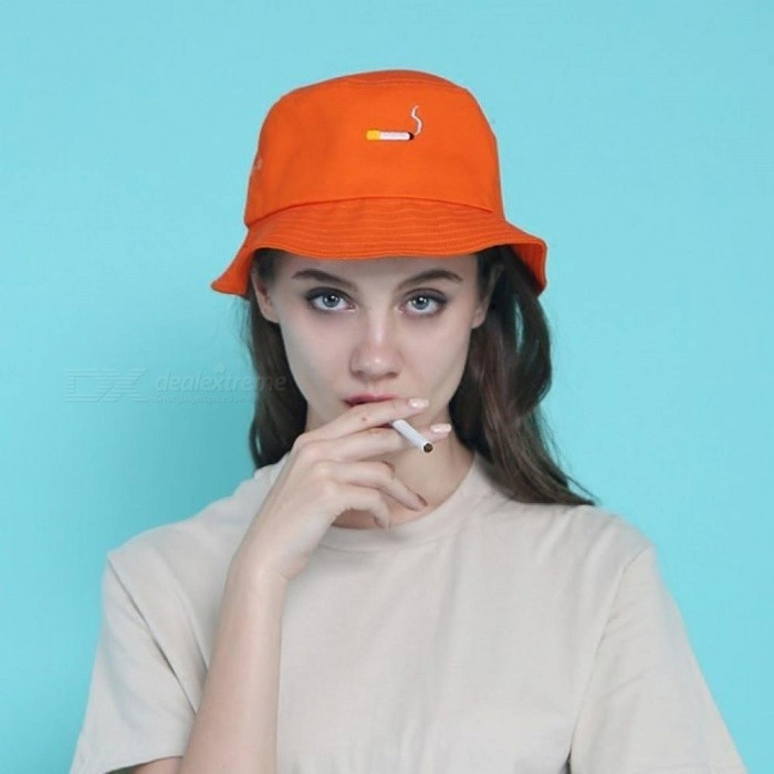 Orange Panama Bucket Hats Fashion Special Design Snapback Caps Cigarette  Embroidery Hip Hop Bucket Caps orange - Worldwide Free Shipping - DX f290b66e212