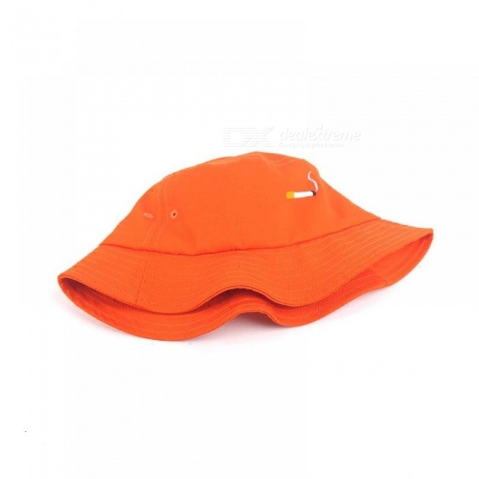 a616ed597bf Orange Panama Bucket Hats Fashion Special Design Snapback Caps Cigarette  Embroidery Hip Hop Bucket Caps