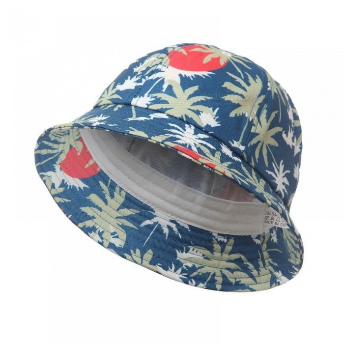Autumn Coconut Tree Print Cotton Bucket Hat Outdoor Sun Beach Cap Fisherman  Panama Sports Hats for Women Men Red - Worldwide Free Shipping - DX f645b7da1dee