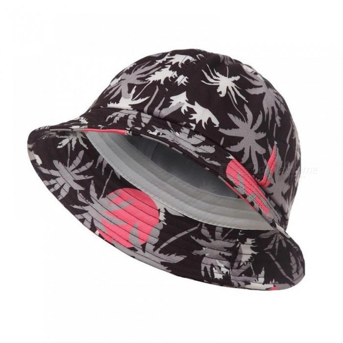 ... Autumn Coconut Tree Print Cotton Bucket Hat Outdoor Sun Beach Cap Fisherman  Panama Sports Hats for ... 2c4bed843ee2