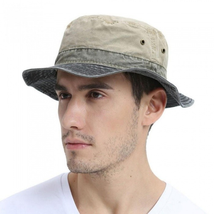 44f743e796c Men s Bob Summer Panama Bucket Hats Outdoor Fishing Wide Brim Hat UV  Protection Cap Men Sombrero