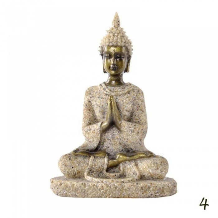Meditation Buddha Statue Sculptures Home Decor Ornaments Creative