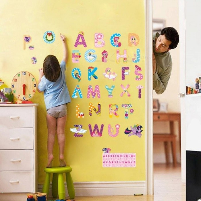 My little horse alphabet lovely letters wall stickers for for Letters for kids rooms