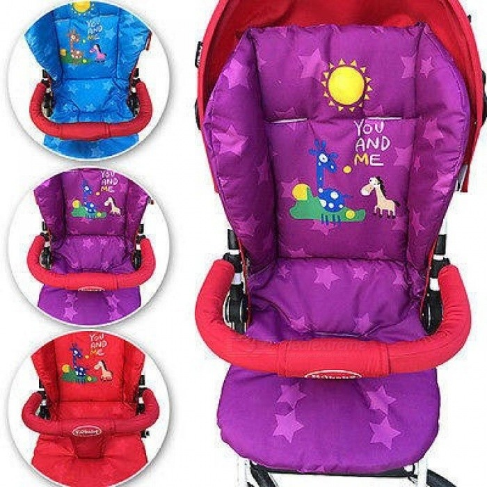 Winter New Baby Infant Stroller Cushion Giraffe Cartoon Pattern Car Seat Pad Cotton Warm Thick Cart Cover Mats