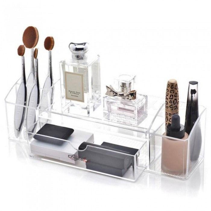 3cafb082e778 Best Clear Transparent Cosmetic Mascara Makeup Brush Perfume Storage  Container Acrylic Makeup Organizer for Cosmetics Clear/M