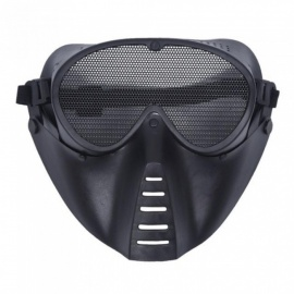 máscara de máscara de paintball máscara negro nuevo airsoft máscara juegos de disparos máscara media cara protectora lower adulto breathab máscara de airsoft