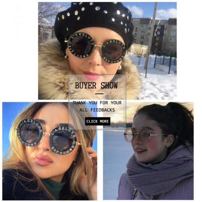 97f61d7dba7 Retro Round Sunglasses Women Brand Designer English Letters Bee Metal Frame  Circle Sun Glasses Fashion Female Shades 1 - Worldwide Free Shipping - DX