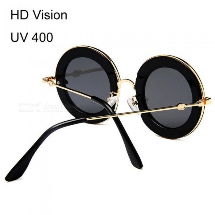 a880b99534 Retro Round Sunglasses Women Brand Designer English Letters Bee Metal Frame  Circle Sun Glasses Fashion Female