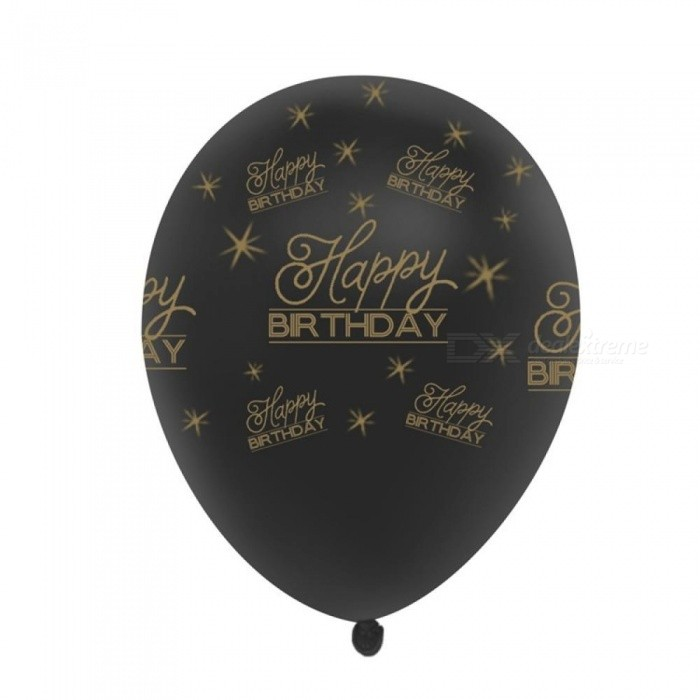 10pcs 12inch Gold Latex Balloons Air Black 30 40 50 60 70 Years Happy Birthday Party Decorations Adult Foil Helium Balloon 12inch Silver