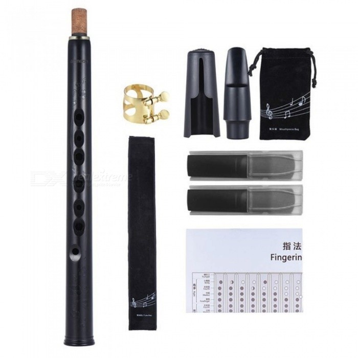 Mini Pocket Bb Saxophone Sax ABS with Alto Mouthpieces 4pcs Reed Carrying Bag Woodwind Instrument
